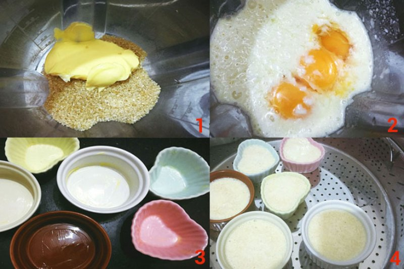 cách làm bánh flan dừa trứng
