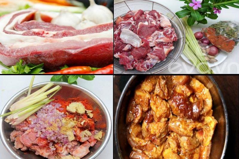 sơ chế nguyên liệu nấu bò kho